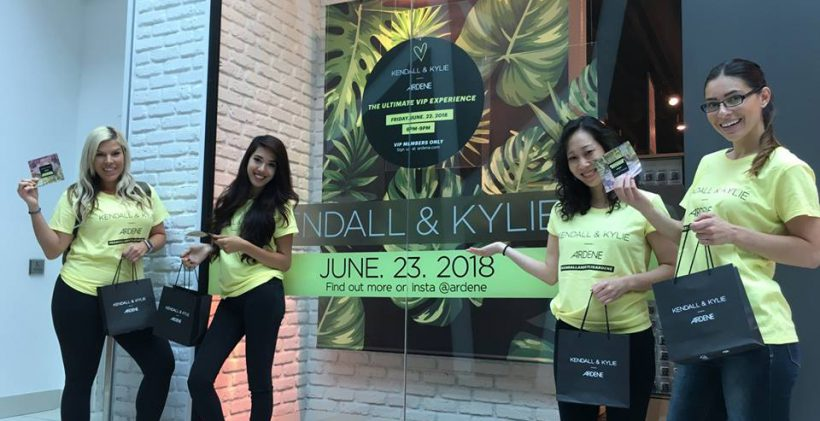 Product Sampling Kylie and Kendall event with Ardene